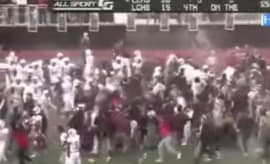 A high school football team loses just seconds after their fans stormed the field.