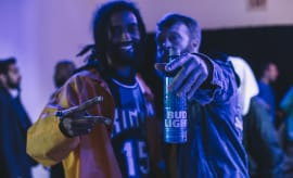 Russ Bengston at the NBA All-Star 2017 Bud Light Crew HQ Party in New Orleans