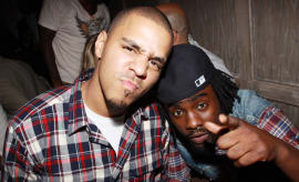 J. Cole and Wale at 2010 Grey Goose Entertainment & BET's 'Rising Icons' Series