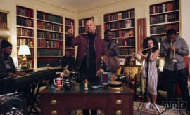 This is Common performing NPR's Tiny Desk Concert series at the White House.