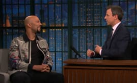 Common talks to Seth Meyers.
