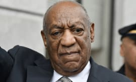 Bill Cosby reacts after mistrial in the aggravated indecent assault trial.