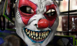 Clown mask.