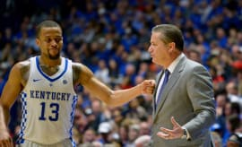 Isaiah Briscoe John Calipari 2017 SEC Tournament