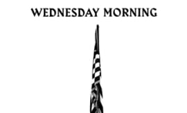 "This is Macklemore's single art for ""Wednesday Morning."""