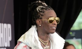 Young Thug attends the BET Hip Hop Awards 2016 Green Carpet