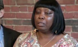 Ursula Ward, mother of Odin Lloyd, speaks with reporters following Aaron Hernandez's death.