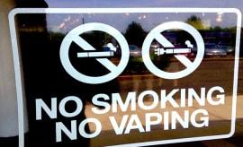 no vaping sign