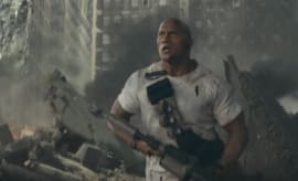 "A scene from 'Rampage' trailer starring Dwayne ""The Rock"" Johnson."