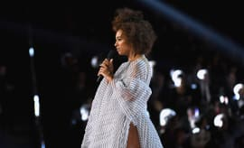 Solange Knowles speaks onstage during The 59th GRAMMY Awards