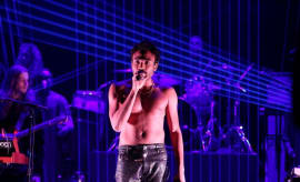 "Childish Gambino performs ""Redbone"" on 'Fallon.'"