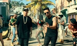 A stillshot of Despacito's music video.