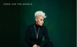 "This is Emeli Sandé's single art for ""Long Live the Angels."""