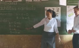 rihanna teaching in Africa