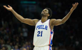 Joel Embiid acknowledges his Process followers.