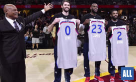 The Cleveland Cavaliers' trio of All-Stars.
