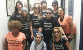 'Orange Is the New Black' anti Trump shirt cast and crew.