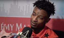 21 Savage during interview on Real 92.3 LA.