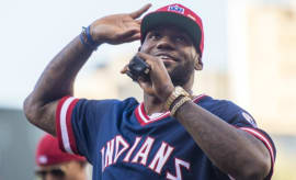 LeBron James helps rally Indians fans.