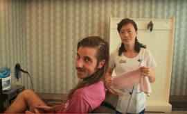 A haircut in North Korea.