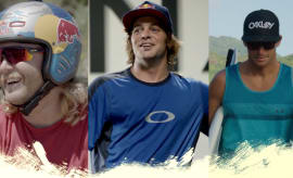 "Ryan Sheckler, Mike ""Hucker"" Clark, and Sebastian Zietz."
