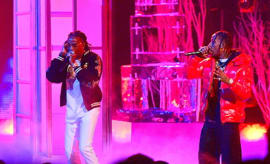 Young Thug, Quavo and Travis Scott perform at the BET Hip Hop Awards 2016