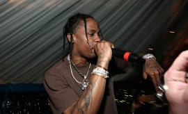 Travis Scott performs at the Travis Scott / Cactus Jack party