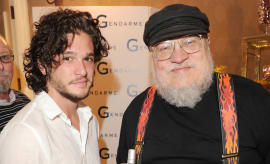 Kit Harington and George R R Martin in 2011
