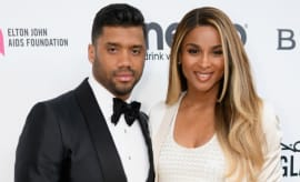 Russell Wilson and Ciara at an awards show.