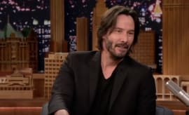 Keanu Reeves appears on 'The Tonight Show Starring Jimmy Fallon.'