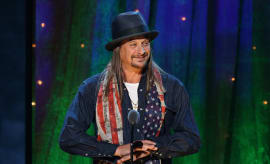 Kid Rock inducts Cheap Trick at the 31st Annual Rock And Roll Hall Of Fame