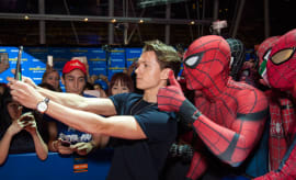 Tom Holland at 'Spider-Man: Homecoming' Red Carpet Fan Event