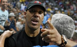 LaVar Ball watches a Summer League game.