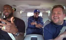 LeBron James and Ice Cube sing 'Carpool Karaoke'.