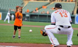 Hailey Dawson at an Orioles game