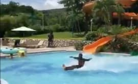 water sliding dude