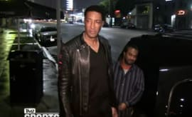 Scottie Pippen gives the side eye to the paparazzi.