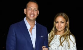 Alex Rodriguez and Jennifer Lopez.