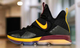 Nike LeBron 14 Black Yellow Wine PE Profile