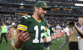 Aaron Rodgers following the Packers' win over the Cowboys.