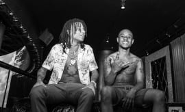 Both Swae Lee and Slim Jxmmi of Rae Sremmurd during their sit-down interview with Complex.