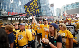 Nashville Predators gather for Game 6 of the Stanley Cup Finals.