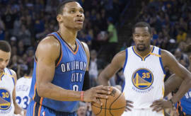 Kevin Durant talked trash to his former Thunder teammates on Thursday night.