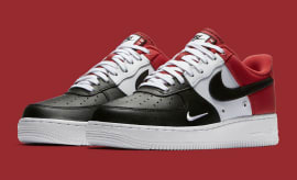Nike Air Force 1 Low Mini Swoosh Chicago Black Toe Release Date Main 823511-603