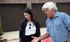Jay Leno and Kendall Jenner