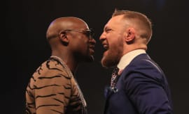 Floyd Mayweather and Conor McGregor come face to face