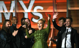 Adele at the 59th Grammy Awards