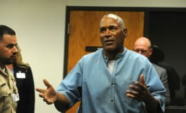 O.J. Simpson at his parole hearing.