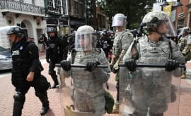 Police and National Guard in Charlottesville