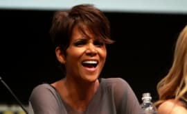 Halle Berry laughs.